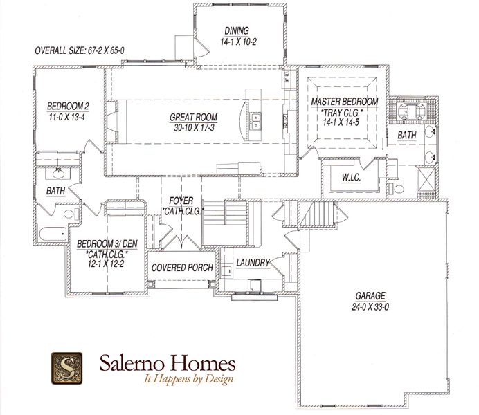 Floor plans of custom build homes from salerno homes llc for Open concept craftsman house plans